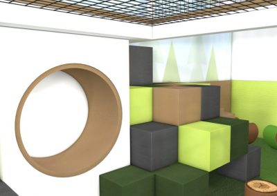 Circle and Cubes Soft play
