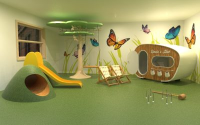 How can a soft play area benefit a child's development?