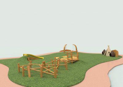 wooden garden rend.154